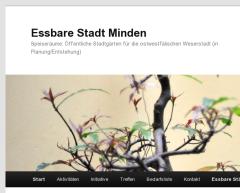 Screenshot der Essbare Stadt Minden-Webseite