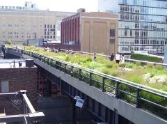 Der 'High Line Park' auf einer ehemaligen Hochbahntrasse