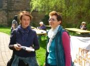 Bettina gibt einer freien Journalistin für das MT Auskünfte