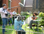 Das WDR-Team filmt Julia
