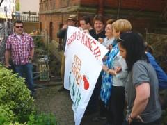Die Protestaktion zur EU Saatgut-Verordnung