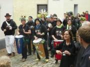 Die Samba-Gruppe Deixa Falar im Weingarten