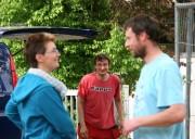 Bettina und die beiden Handwerker Sven und Enrico