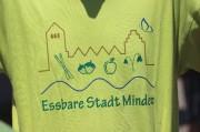 Das neue T-Shirt erstmals in der Öffentlichkeit