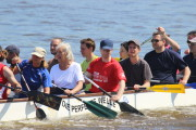 Ausrichten des Bootes vor dem Startsignal