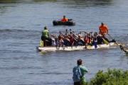 Das «Essbare Stadt»-Boot auf dem Wasser