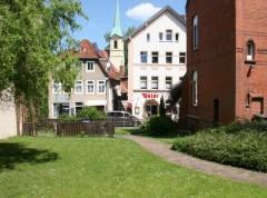 Der Rasen auf dem Gelände an der Simeonstrasse Nr. 7