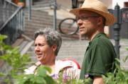 Sabine und Burkhard vor der Martinitreppe