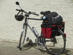 Gepacktes Fahrrad