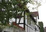 Ein Fachwerkhaus am Simeonskirchhof