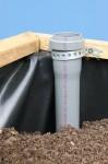 Ein Einfüllstutzen, um das Wasserreservoir aufzufüllen.
