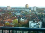 Blick aus dem Gebäude der Leibniz-Universität