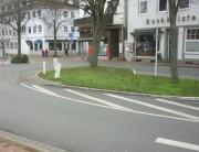 Verkehrsinsel nahe des Martinikirchhofes