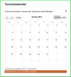Screenshot: Kalenderblatt Januar 2014