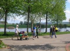 Weserpromenade am 1. Mai