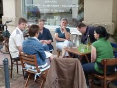 Ein Treffen open-air